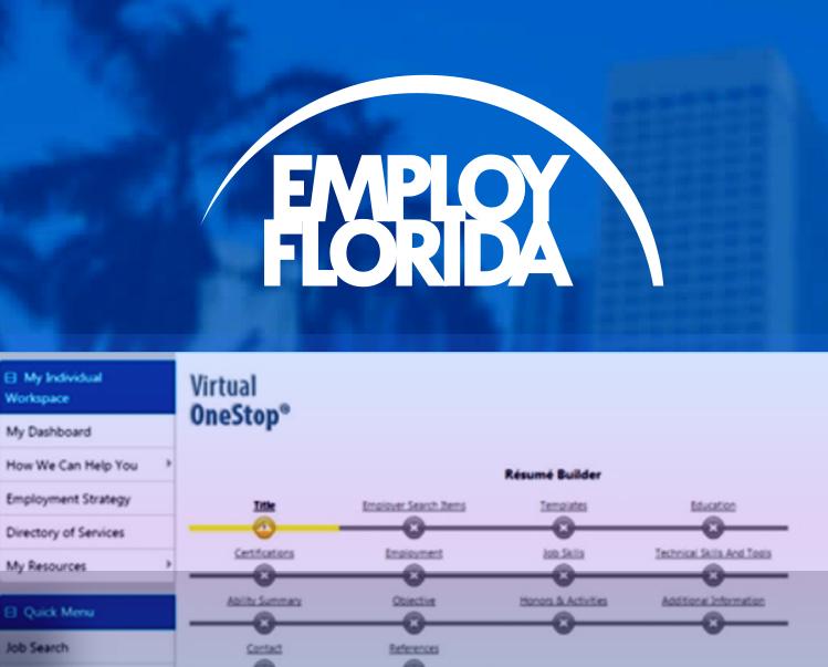 Employ Florida Resume Builder