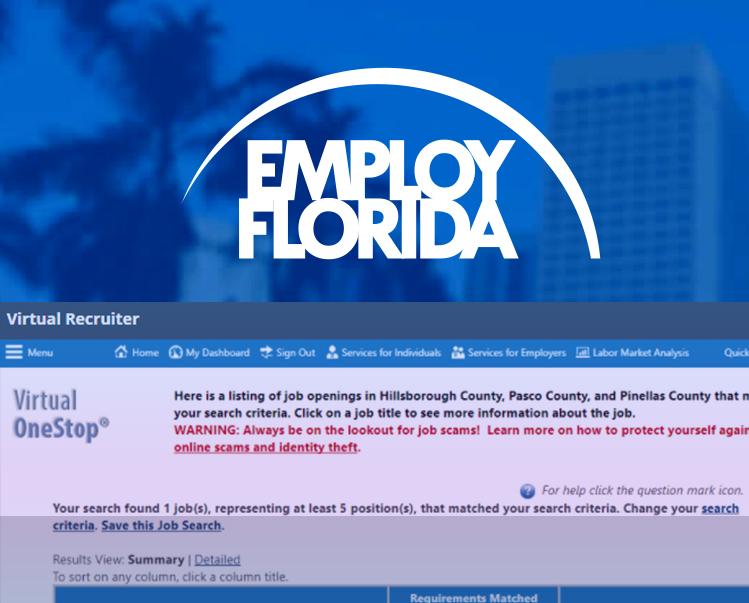 Employ Florida Virtual Recruiter