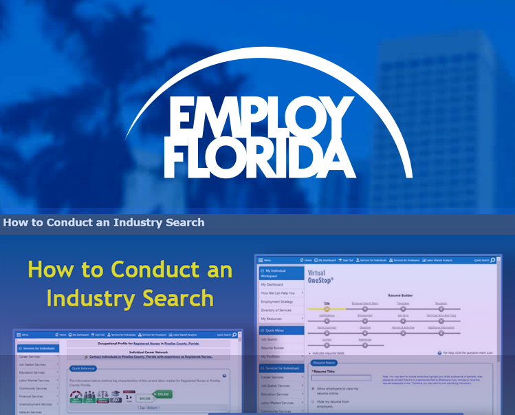 Conducting an Industry Search